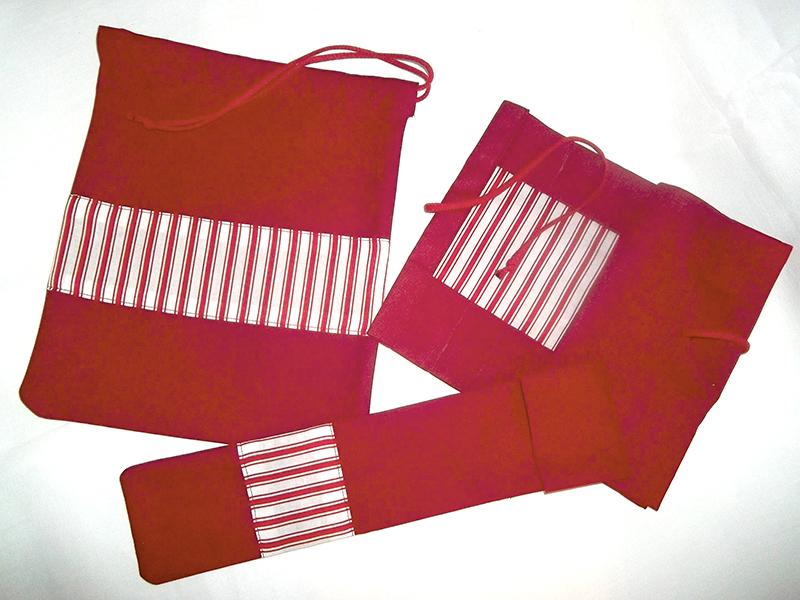 Schulset (Rollmäppchen, Turnbeutel & Flötentasche)
